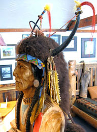 GrizzlyClawTradingCompnay-BlackBuffaloHideHeaddress