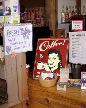 JitterbugJava at the Grizzly Claw Trading Co. - coffee bar